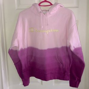 Champion ombré pink hoodie 💗💜